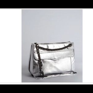 Rebecca Minkoff Silver Leather Swing Convertible